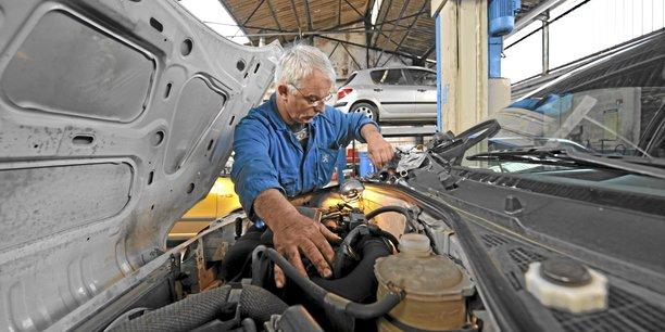 C'est le secteur de la réparation et de la vente de véhicules qui est le plus touché au niveau néo-aquitain