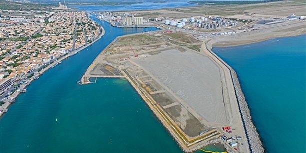 Le port de commerce de Port-la-Nouvelle, futur hub de l'éolien flottant en Méditerranée.