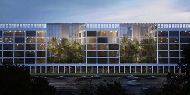 La future Halle Nova, au sein du quartier Cambacérès à Montpellier.