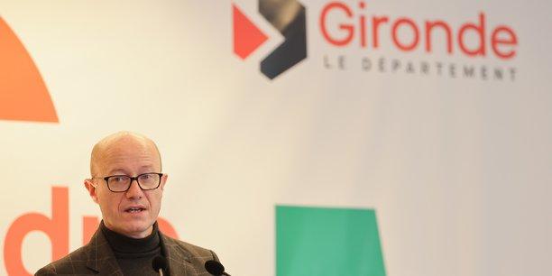 Jean-Luc Gleyze lors de ces voeux 2021, les derniers de son premier mandat.