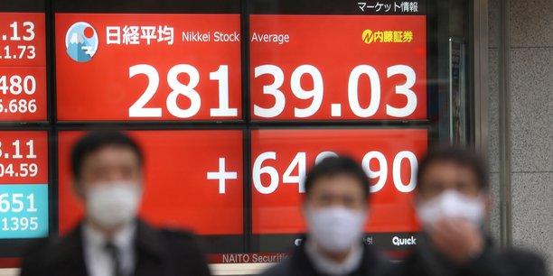 La prise de contrôle du Sénat américain par les démocrates et donc les pouvoirs accrus donnés à Joe Biden pour la relance ont déclenché une onde d'euphorie sur les marchés du monde entier: À Tokyo, l'indice vedette Nikkei a bondi de 2,36% à 28.139,03 points, revenant à un niveau jamais atteint depuis août 1990.