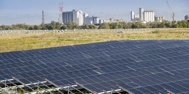 La centrale solaire de Labarde, à Bordeaux.