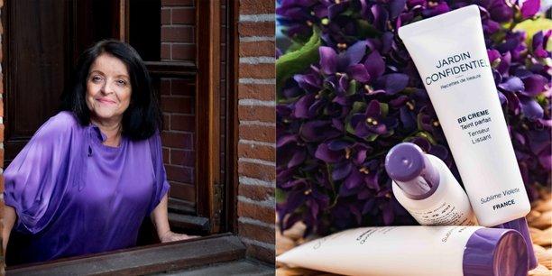 Hélène Via a lancé une gamme de cosmétiques à base de la Violette de Toulouse.