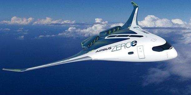 Airbus a présenté trois concepts d'avions à hydrogène dont une aile volante.