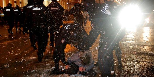 Russie: pres de 3.500 arrestations dans les manifestations soutenant alexei navalny[reuters.com]