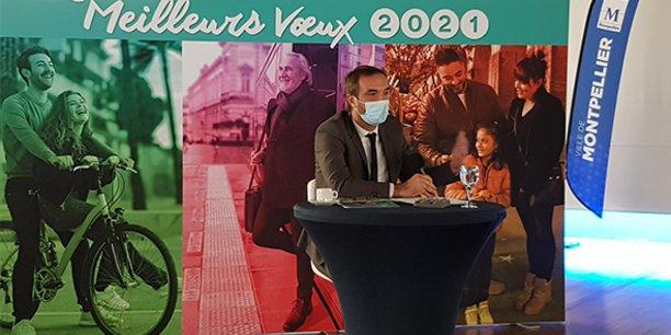 Pour ses premiers voeux en qualité de maire et président de la Métropole de Montpellier, Michaël Delafosse appuie sur sa stratégie d'investissement, quitte à augmenter le niveau d'endettement des collectivités en profitant des taux bas actuels.