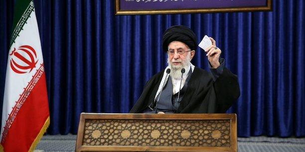 Le guide suprême l'ayatollah Khamenei lors d'une intervention télévisée le 8 janvier dernier.