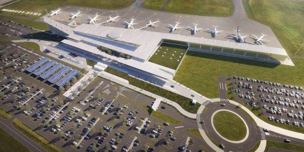 Si tout se déroule comme prévu, le chantier l'aéroport de Lille-Lesquin devrait démarrer l'année prochaine. Extension vers l'Ouest de l'aérogare, espaces arrivées et départs différenciés, parkings étendus et mises aux normes sont au programme.