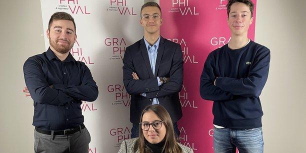 Anne Delpech a fait de l'intégration des jeunes chez Graphival sa priorité.