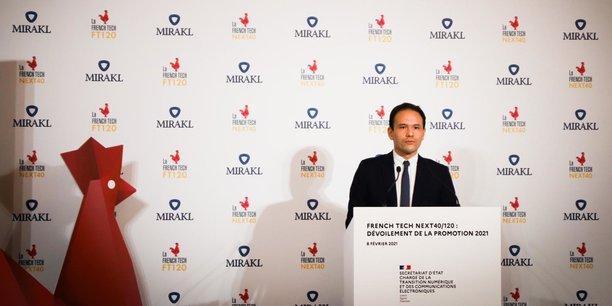 Le secrétaire d'Etat à la Transition Numérique, Cédric O, lors de l'annonce de la nouvelle promotion du Next40 et du French Tech 120.