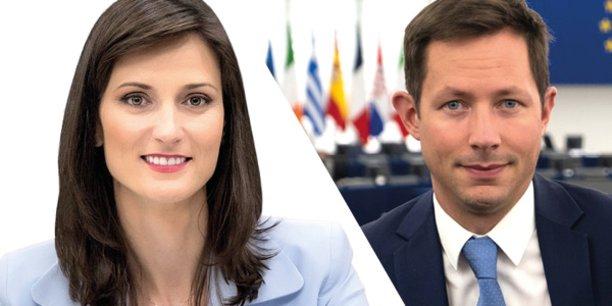 Mariya Gabriel et François-Xavier Bellamy.