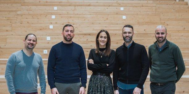 Marc de Zordo (deuxième en partant de la gauche), et ses associés, prévoient de recruter 40 personnes en 2021.
