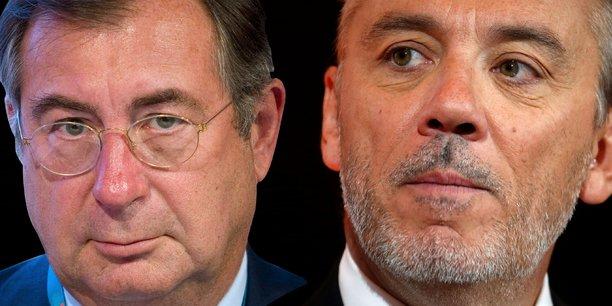 Martin Bouygues et Stéphane Richard, les dirigeants de Bouygues Telecom et d'Orange.