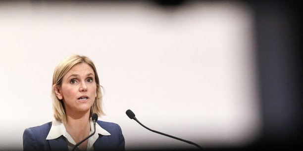 Agnès Pannier-Runacher, ministre déléguée à l'Industrie (photo d'illustration: ici, en conférence de presse, le 4 février 2021).
