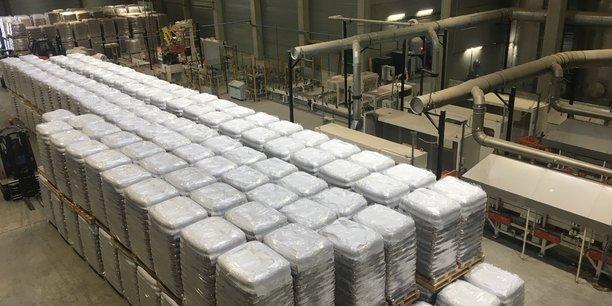 L'unité de granulation de GBMC est en service, la production de dés agglomérés sera lancée courant mars. (Crédit : Corinne Mérigaud)