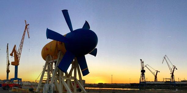 L'hydrolienne D10, mise à l'eau pour la première fois en 2015 dans le Fromveur, puis en 2018 et 2019, pour expérimenter diversification du modèle énergétique de l'île d'Ouessant, devrait être immergée à nouveau cet été.