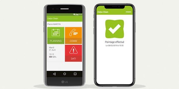 Penbase a développé un outil dédié au secteur de la propreté (nettoyage de locaux professionnels), baptisé Dalyo Clean et accessible sur smartphone.