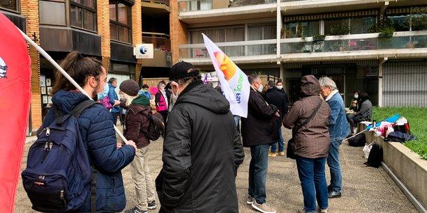 Une trentaine de conseillers Pôle Emploi étaient en grève, jeudi 4 mars à Toulouse.