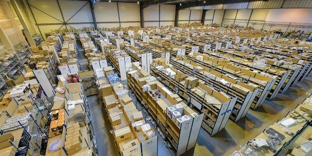 L'entrepôt de SDS, à Blanquefort (Gironde), où sont stockées plus de 30.000 références de pièces détachées sur 9.000 m2.