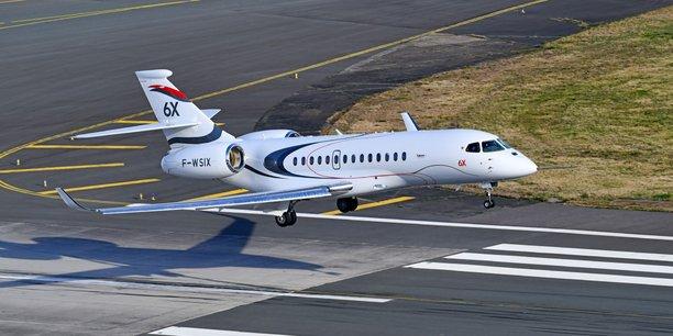 Le premier vol du Falcon 6X à Bordeaux-Mérignac en images Le vol inaugural du Falcon - Objectif Aquitaine