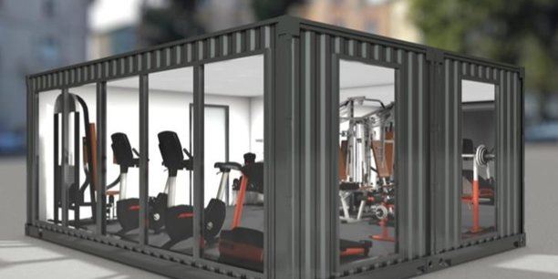 Une projection de ce à quoi ressemble un container de La Boite à Sport.