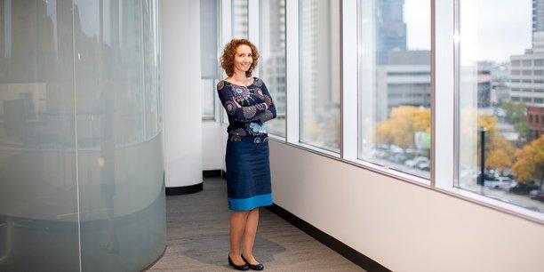 Charlotte Plombin, ingénieure, dans les locaux du groupe ConocoPhillips, au Canada.