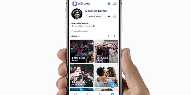 A mi-chemin entre réseau social et plateforme de stockage de photos et vidéos, l'application mobile Albums se lance officiellement en France ce jeudi.