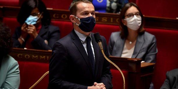 Le ministre délégué en charge des comptes publics Olivier Dussopt à l'Assemblée nationale.