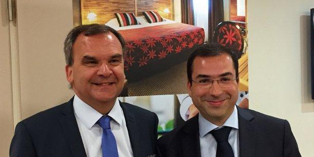 Fabrice Galland, président de Logis Hôtels, et Karim Soleilhavoup, directeur général de Logis Hôtels.