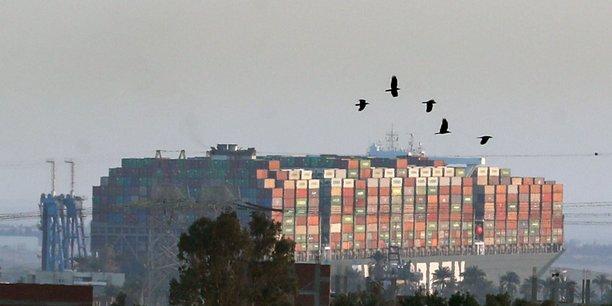 Le porte-conteneurs « Ever-Given », avec ses 400 mètres de long et ses 200.000 tonnes, avait bloqué le trafic sur le Canal de Suez entre le 23 et le 29 mars.
