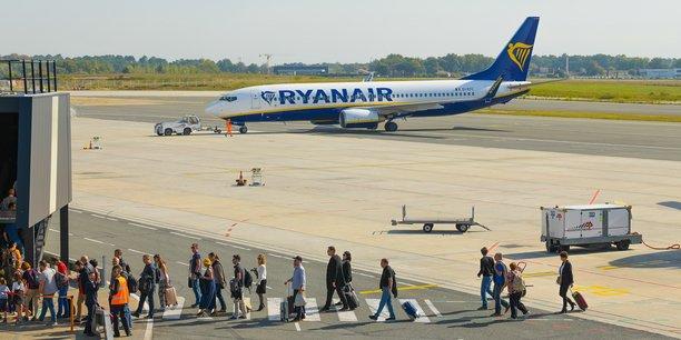 La compagnie low-cost Ryanair a ouvert une base à Bordeaux en juin 2019.