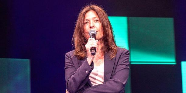 Caroline Maitrot, fondatrice et CEO de Nomad Education, au Grand Rex de Paris le 29 mars 2021.