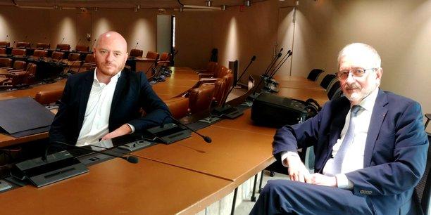 William Ballue, directeur général par intérim, et Gérard Frut, président, ont présenté la logique poursuivie par la nouvelle feuille de route d'Invest in Bordeaux.