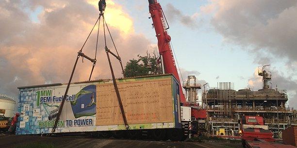 Vue d'une pile à combustible d'HDF en Martinique, où l'entreprise a réalisé un important projet.