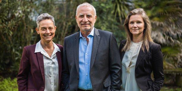 Valérie Scappaticci, directrice financière, Pier Vincenzo Piazza, et Stéphanie Monlezun, directrice des opérations.