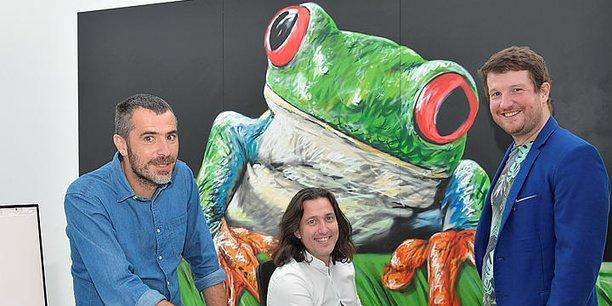 Les trois cofondateurs de Treefrog Therapeutics (Thérapies de la Rainette) : Jean-Luc Treillou, Kevin Alessandri et Maxime Feyeux.