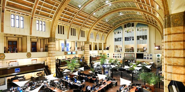La Bourse d'Amsterdam.