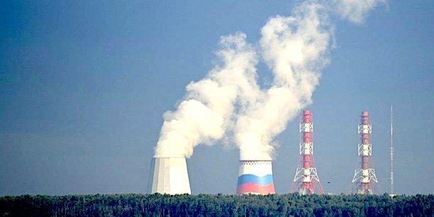 Une centrale nucléaire près de Saint-Pétersbourg.