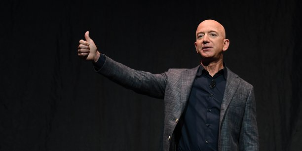 Jeff Bezos, patron d'Amazon.;