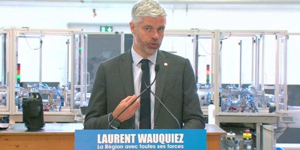 Au sein de l'entreprise Rocle, à Tarare, le candidat Wauquiez a déroulé son programme qui tient en trois axes et une grande cause : relocalisation, santé, sécurité et, en dernier, qualité de l'air.
