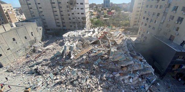 Gaza: la tour detruite dans une frappe israelienne avait ete evacuee[reuters.com]