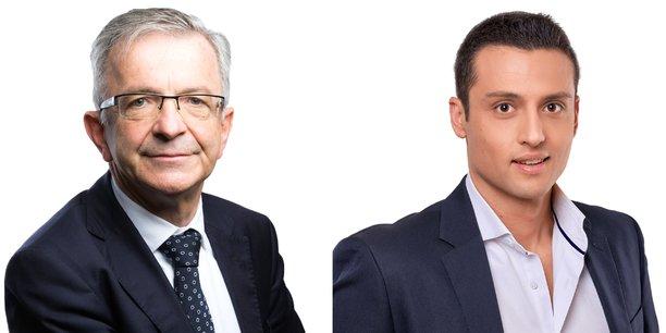 Face à François Bonneau (PS) (à gauche, sur la photo) qui brigue un troisième mandat, Aleksandar Nikolic, candidat du Rassemblement national, souhaite incarner la nouveauté en politique dans le Centre Val de Loire.