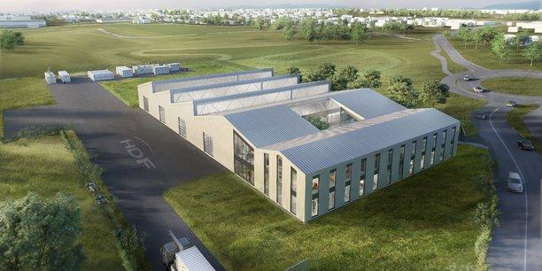 Visuel de l'usine qu'Hydrogène de France projette de construire à Bordeaux Métropole pour 20 millions d'euros.