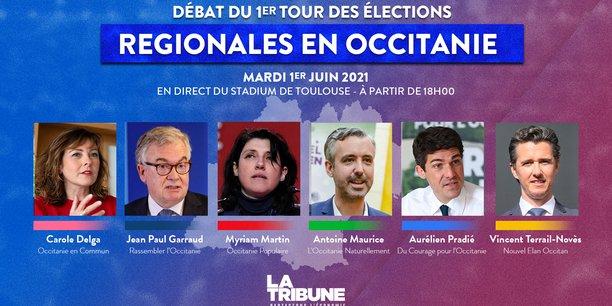 À l'occasion des élections régionales, La Tribune réunit les six principaux candidats en Occitanie, mardi 1er juin à Toulouse pour un débat.