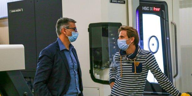 Arnaud Mascarell, le CEO de Fineheart (à gauche), lancera les essais cliniques chez l'humain de sa pompe cardiaque en 2022.