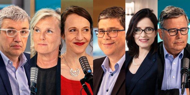 De gauche à droite, Gilles Vermot-Desroches, Laure Frugier, Emilie Riess, Stéphane Champion, Hélène Valade et Bruno Guillemet.