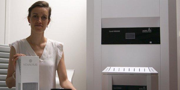 Louise Lepers est à la tête d'Azelies qui commercialise des purificateurs d'air.