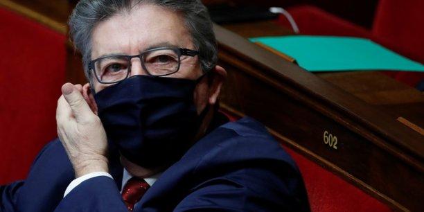Melenchon enfarine avant une manifestation a paris[reuters.com]