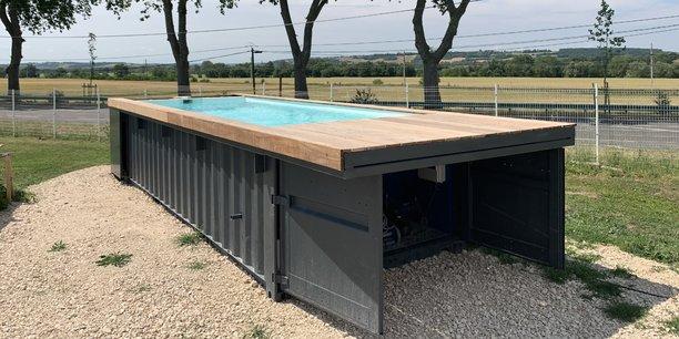 Soniga propose des piscines personnalisables, construites à Toulouse grâce à d'anciens containers maritimes recyclés.
