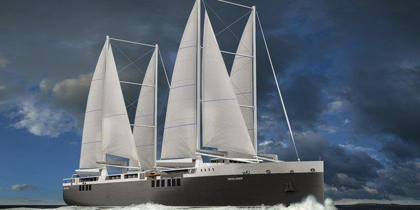 A propulsion principale vélique, le cargo roulier de Neoline doit permettre une économie de 80% à 90% de la consommation et des émissions associées par rapport à un navire conventionnel de même taille.